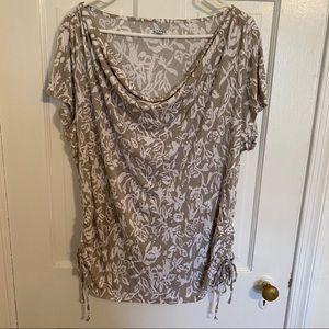 Gray Cowl Neck T-shirt